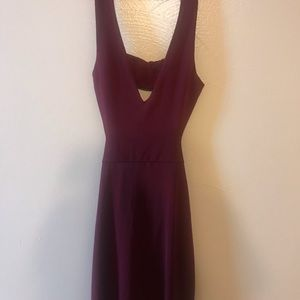 Wine Cutout mini dress